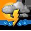 Bölgesel gök gürültülü orta kuvvetli veya şiddetli yağış